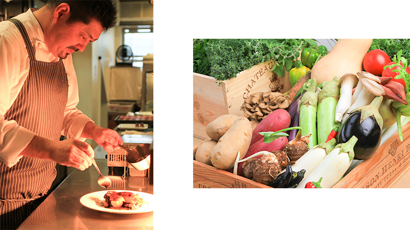 ル・ポタジェこだわりの野菜